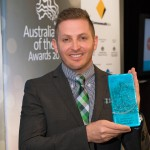 John with Australian of the Year Trophy 2